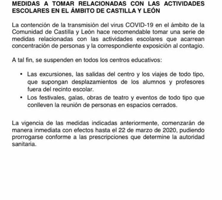Cancelación de la obra de teatro del 14 de marzo