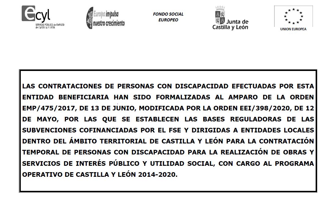Publicado el anuncio de subvención de cofinanciación del Fondo Social Europeo