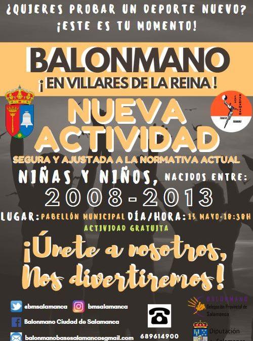 Jornada de promoción del balonmano para el sábado 15