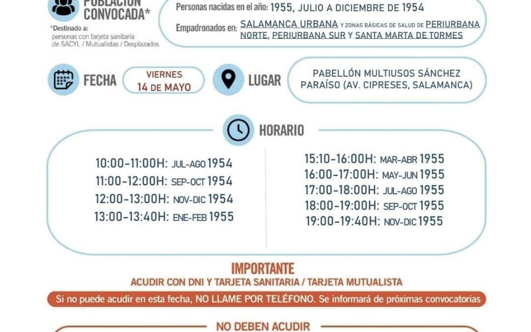 Vacunación para mayores nacidos en 1955 y de julio a diciembre de 1954