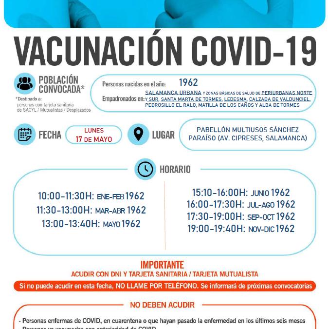 Vacunación para las personas nacidas en 1962