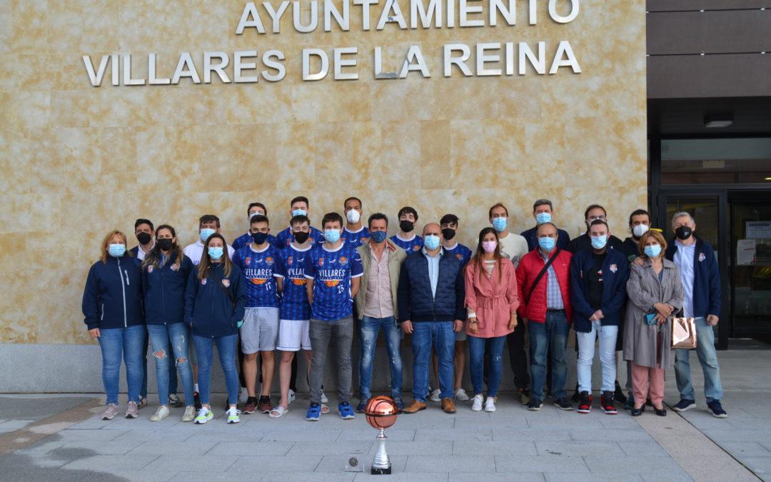 El alcalde de Villares de la Reina recibe al Plásticos Durán Baloncesto Villares