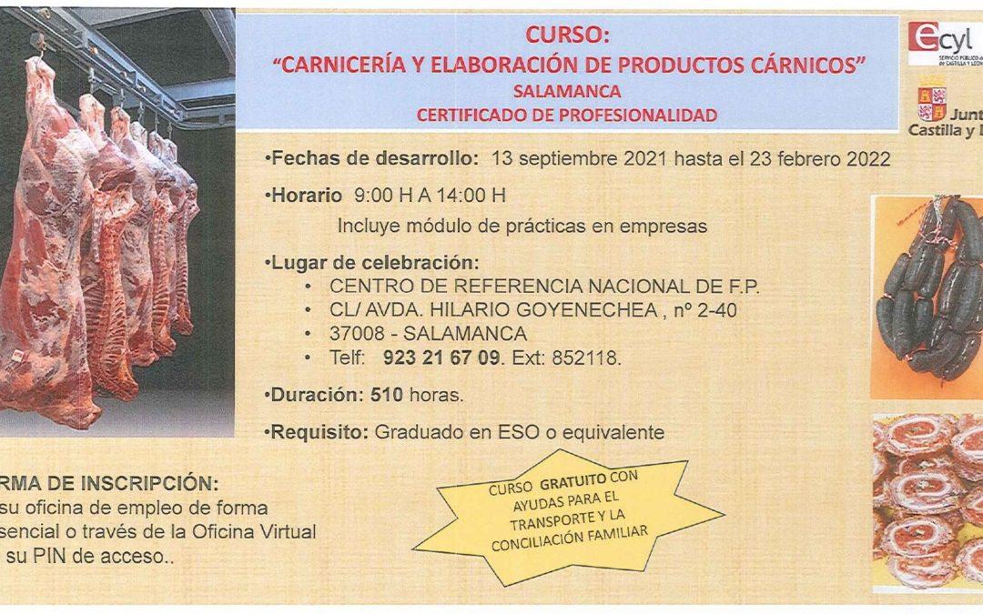 Curso: «Carnicería y elaboración de productos cárnicos»
